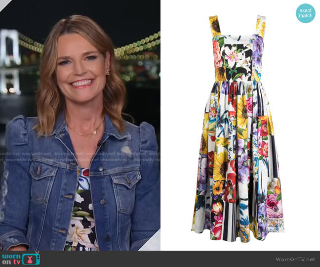 Floral Patchwork Print Dress by Dolce & Gabbana worn by Savannah Guthrie  on Today