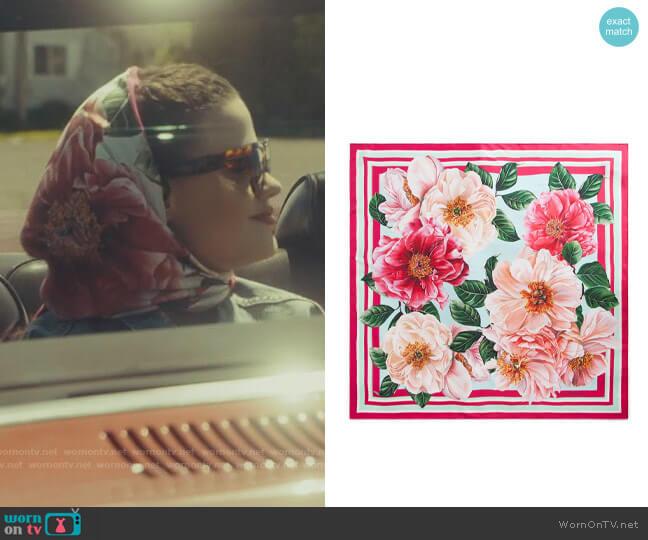 Dolce & Gabbana Floral Scarf worn by Maggie Vera (Sarah Jeffery) on Charmed