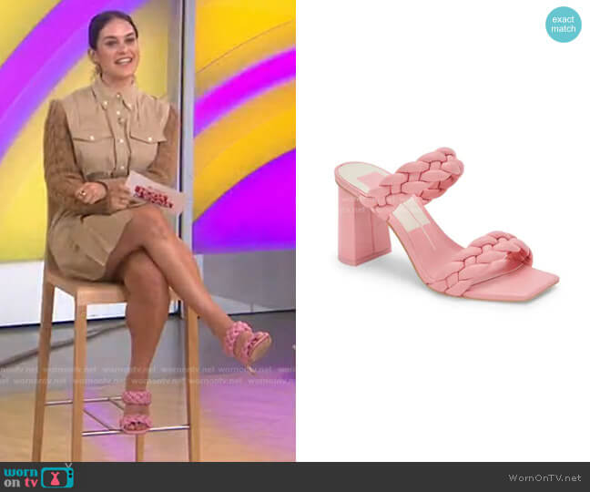 Paily Slide Sandal by Dolce Vita worn by Donna Farizan  on Today