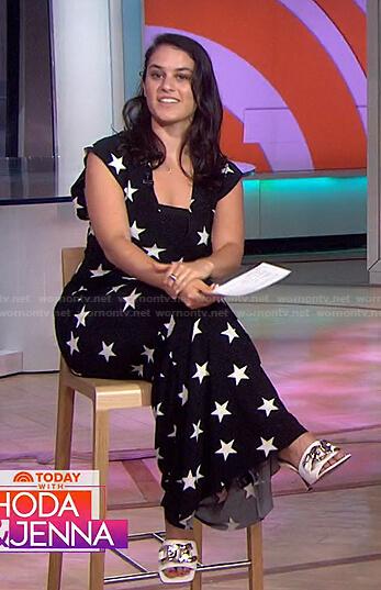 Donna's black star print maxi dress on Today