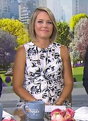 Dylan's white floral maternity top on Today