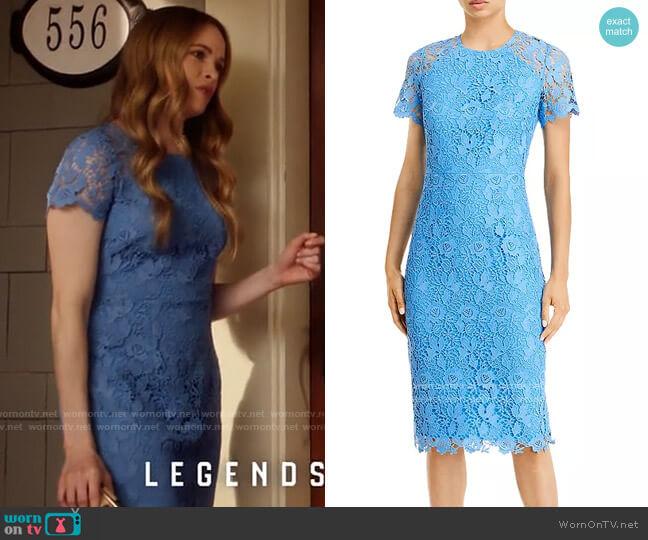 Eliza J Illusion Sleeve Lace Sheath Dress worn by Caitlin Snow (Danielle Panabaker) on The Flash