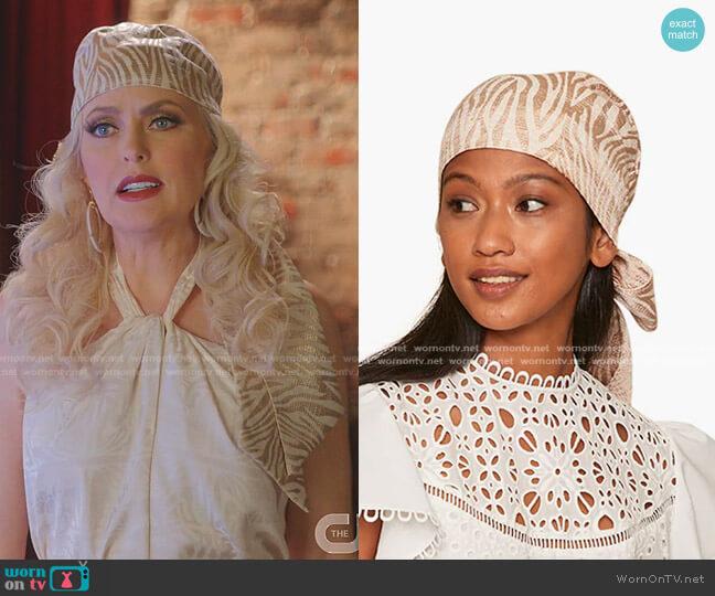 Gigi Sash Turban by Eugenia Kim worn by Alexis Carrington (Elaine Hendrix) on Dynasty