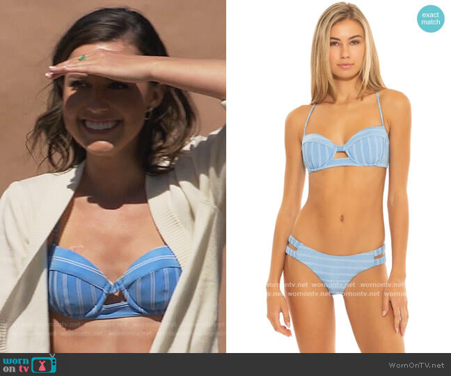 Ribbed Underwire Bikini Top by Everything But Water worn by Katie Thurston  on The Bachelorette