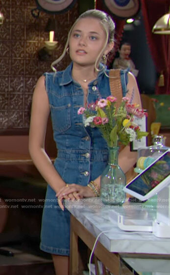 Faith's denim dress on The Young and the Restless