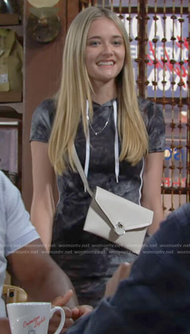 Faith's tie dye hooded dress on The Young and the Restless
