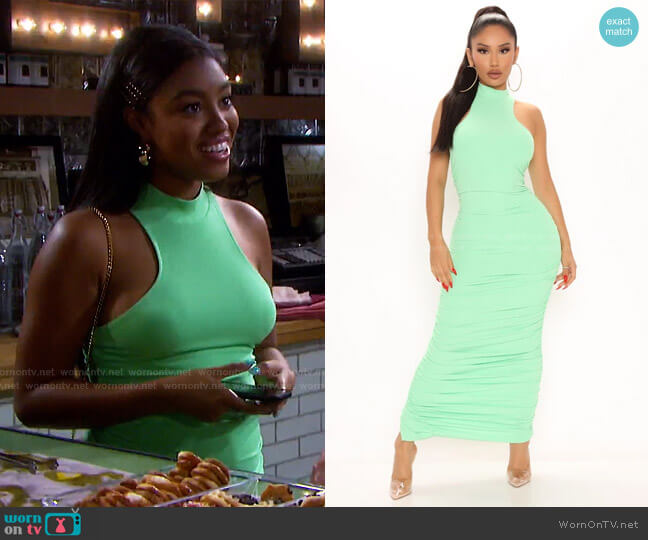 Back For Good Maxi Dress by Fashion Nova worn by Chanel Dupree (Precious Way) on Days of our Lives