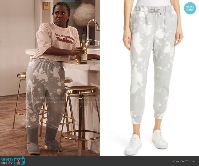 Frame Blotch Print Sweatpants worn by Harper (Laci Mosley) on iCarly