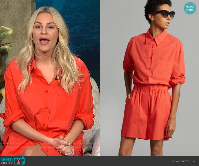 Lui Organic Cotton Shirt and Shorts by The Frankie Shop worn by Morgan Stewart  on E! News