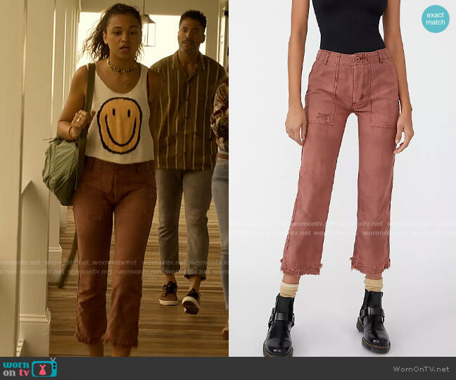 Free People Stormbringer Pants worn by Kiara Carrera (Madison Bailey) on Outer Banks