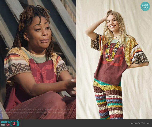 Chrissy Tee by Free People worn by Malika Williams (Zuri Adele) on Good Trouble