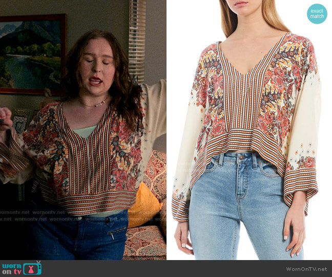 Free People Mix n Match Blouse worn by Ashlyn (Julia Lester) on High School Musical The Musical The Series