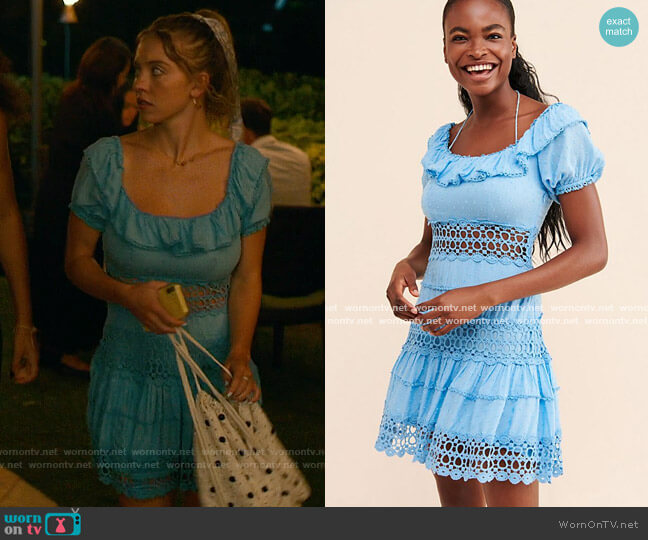 Free People Mixed Emotions Dress worn by Olivia Mossbacher (Sydney Sweeney) on The White Lotus