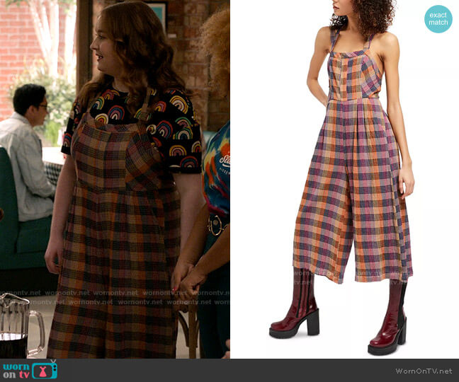 Free People Zuzu Romper worn by Ashlyn (Julia Lester) on High School Musical The Musical The Series