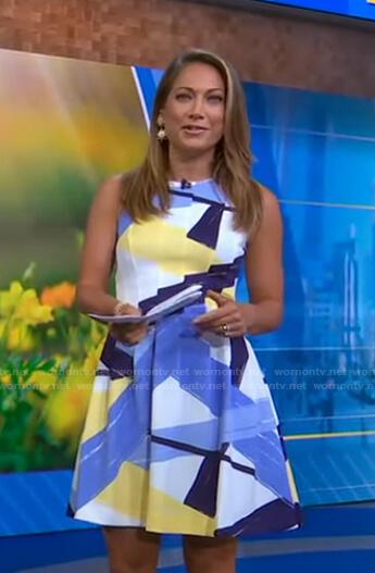 Ginger's brushstroke print dress on Good Morning America