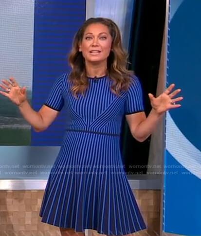Ginger's blue striped dress on Good Morning America