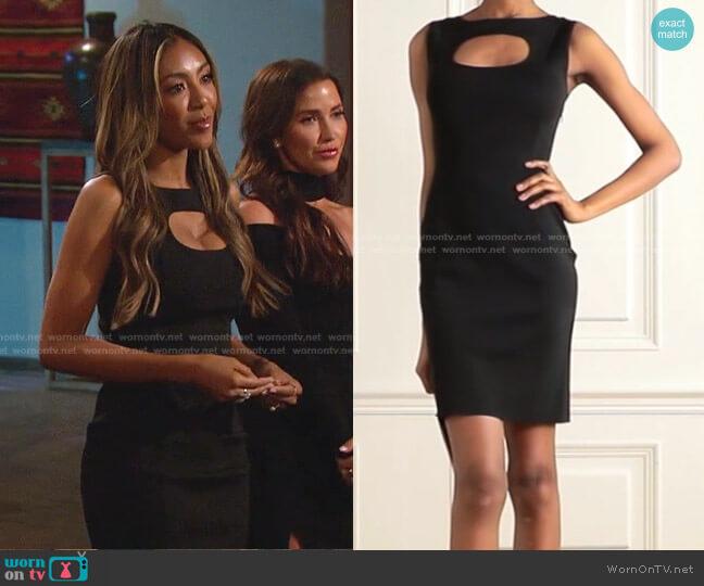 Cutout Stretch-Crepe Dress by Givenchy worn by Tayshia Adams  on The Bachelorette