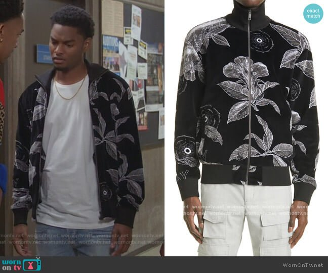 Velvet Full-Zip Track Jacket by Givenchy worn by Sylvester Powell on All American