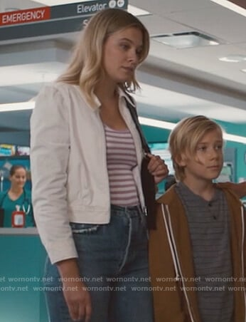 Grace's white zip jacket on Nurses