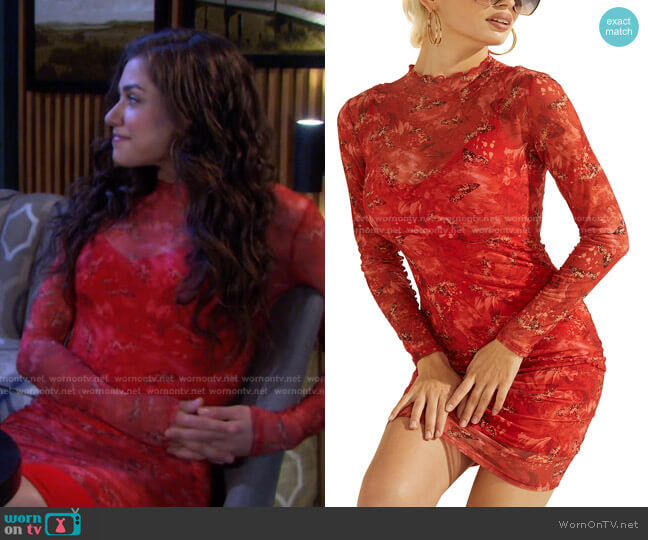 Nadine Dress by Guess worn by Ciara Brady (Victoria Konefal) on Days of our Lives