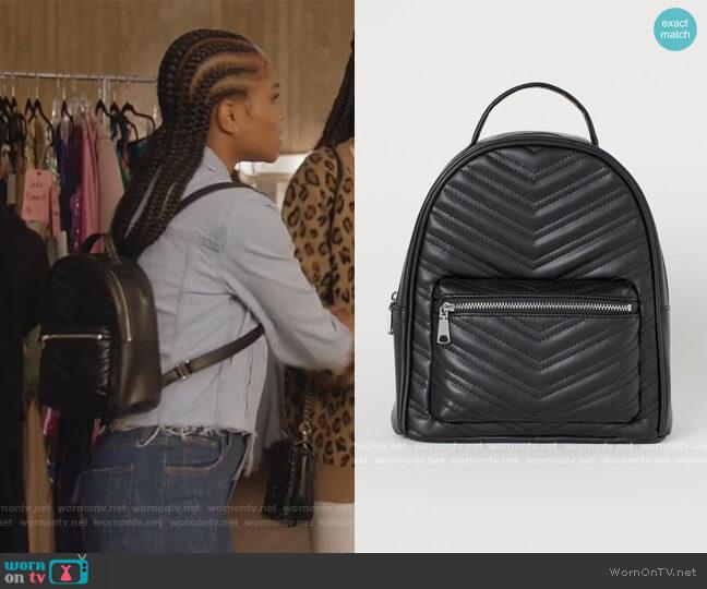Small Backpack by H&M worn by Simone Hicks (Geffri Maya) on All American