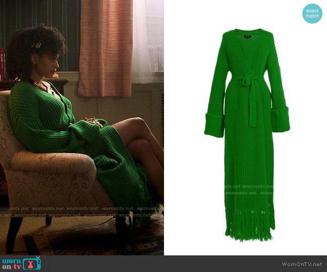 Hanifa Miya Knit Cardigan Dress worn by Sondi Hill (Corbin Reid) on Run the World