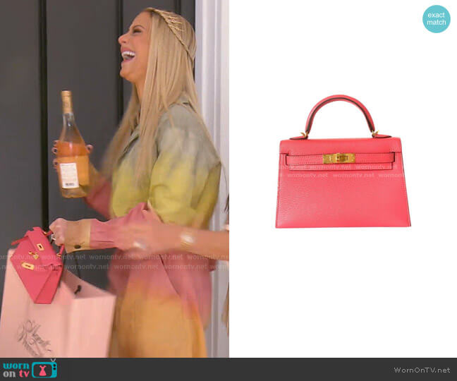 Mini Kelly Bag by Hermes worn by Dorit Kemsley  on The Real Housewives of Beverly Hills