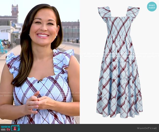The Ellie Nap Dress by Hill House worn by Eva Pilgrim  on Good Morning America