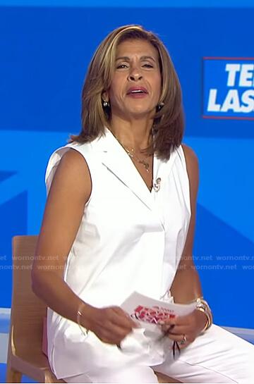 Hoda's white sleeveless shirt on Today
