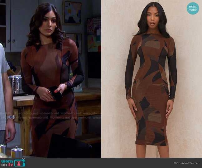 Cassidy Dress by House of CB worn by Gabi Hernandez (Camila Banus) on Days of our Lives
