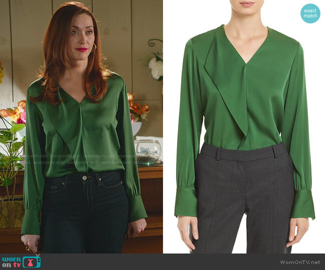 Iadelia Blouse by Boss worn by Abigail Pershing (Sarah Power) on Good Witch