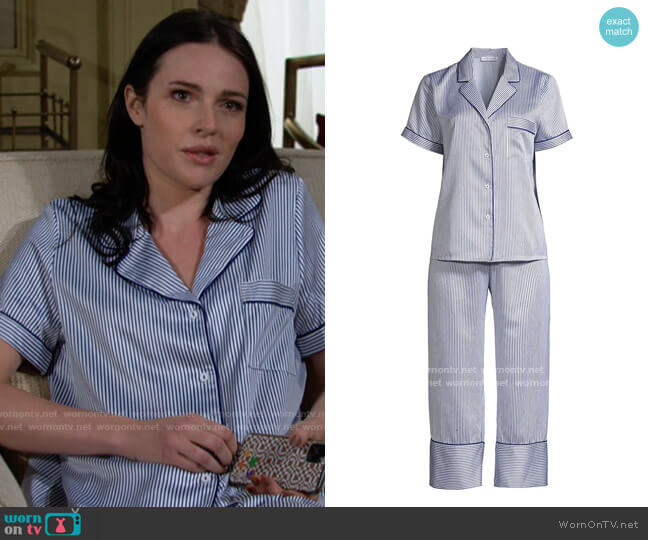 In Bloom Cypress 2-Piece Short Sleeve & Capris Set worn by Tessa Porter (Cait Fairbanks) on The Young & the Restless