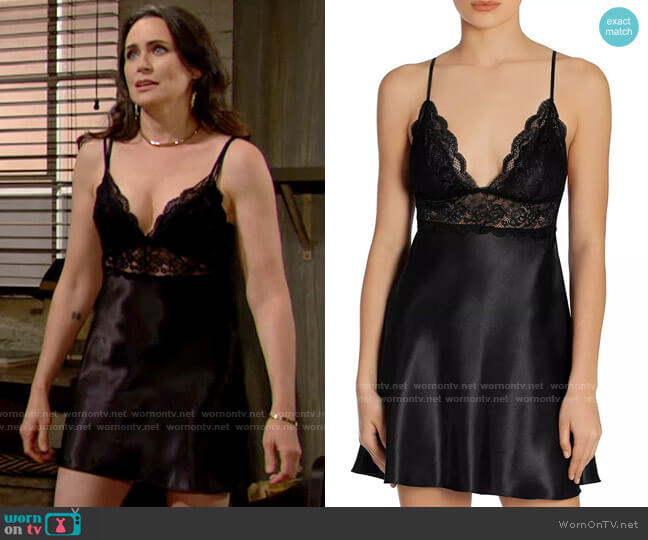 In Bloom by Jonquil Satin Charmeuse Chemise worn by Quinn Fuller (Rena Sofer) on The Bold & the Beautiful
