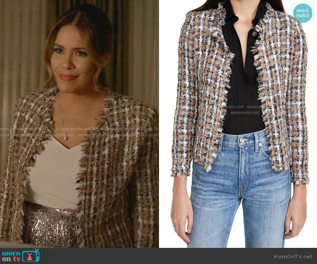 Vella Jacket by Iro worn by Cristal Jennings (Daniella Alonso) on Dynasty
