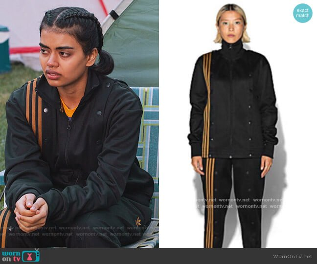 Ivy Park Track Jacket and Pants by Adidas worn by Aneesa (Megan Suri) on Never Have I Ever