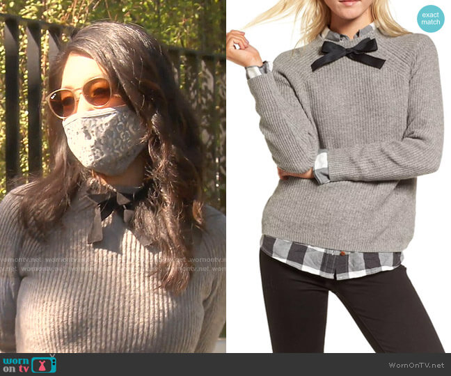 Gayle Tie Neck Sweater by J. Crew worn by Crystal Kung Minkoff  on The Real Housewives of Beverly Hills
