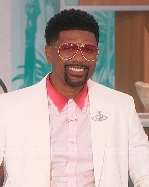 Jalen's pink dip dye collar shirt on The Talk