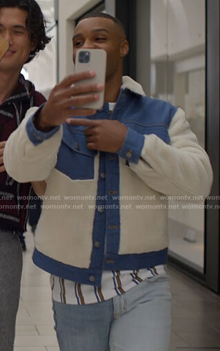 James's blue and white jacket on American Horror Stories