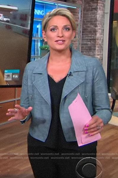 Jamie Yuccas's moto jacket on CBS This Morning