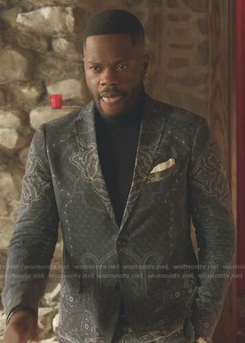 Jeff's paisley print blazer on Dynasty