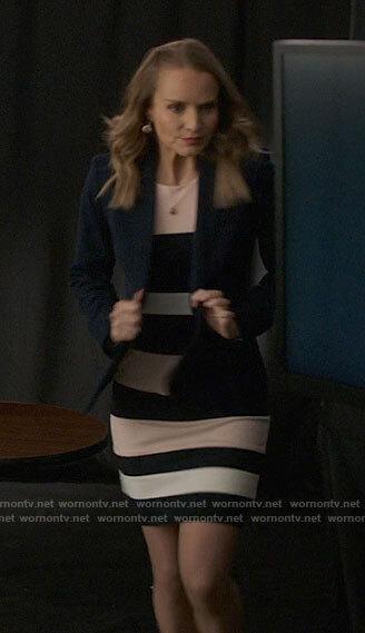 Nini's floral velvet blazer and zip front skirt on High School Musical The Musical The Series