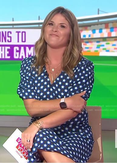 Jenna's blue star print dress on Today