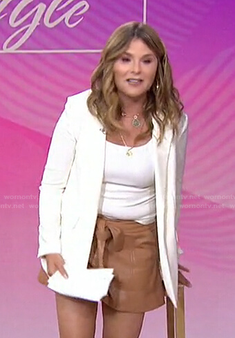 Jenna's white blazer and leather shorts on Today