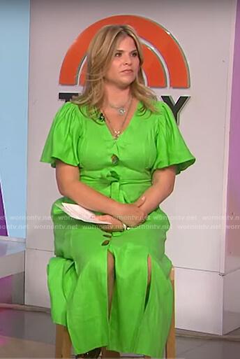 Jenna's green puff sleeve dress on Today