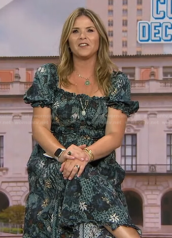 Jenna's floral puff sleeve dress on Today