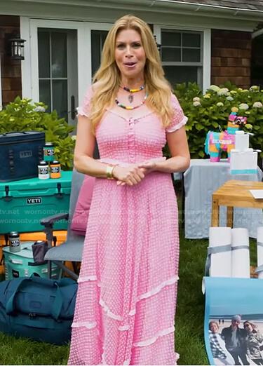 Jill's pink eyelet maxi dress on Today