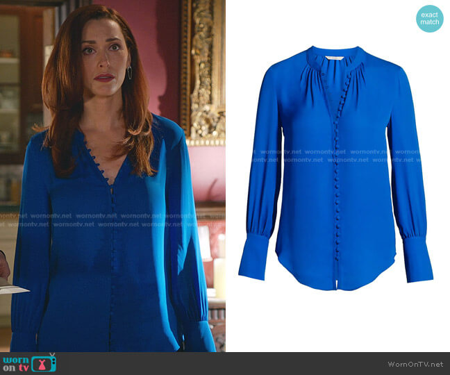 Tariana Silk Blouse by Joie worn by Abigail Pershing (Sarah Power) on Good Witch