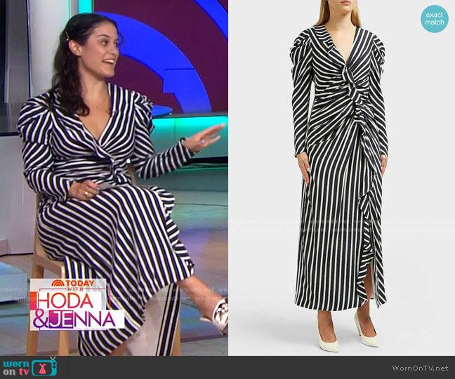 Ruffled Striped Midi Dress by Jonathan Simkhai worn by Donna Farizan  on Today