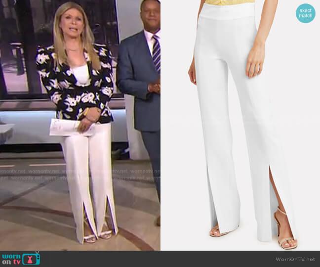 Satin-Combo Front-Slit Pants by Jonathan Simkhai worn by Jill Martin  on Today