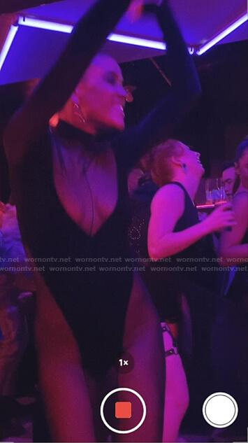 Julien's black mesh and velvet jumpsuit on Gossip Girl
